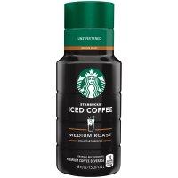 Starbucks Iced Coffee Medium Roast Unsweetened 48oz BTL product image