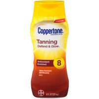 Coppertone Tanning Sunscreen Lotion SPF 8 UVA/UVB Protection Waterproof 8oz. BTL product image