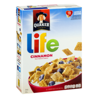 Quaker Life Cereal Cinnamon 18oz Box product image