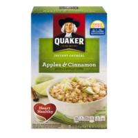 Quaker Instant Oatmeal Apple & Cinnamon 10PK 15.1oz Box product image