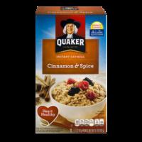 Quaker Instant Oatmeal Cinnamon & Spice 10PK 15.1oz Box product image