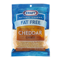 Kraft Fat Free Shredded Cheddar Cheese 7oz PKG product image