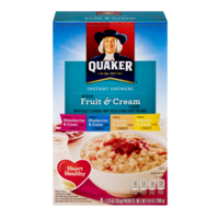 Quaker Instant Oatmeal Fruit & Cream Variety 8PK 9.8oz Box product image