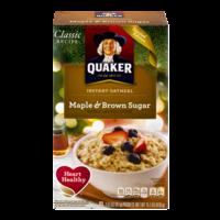 Quaker Instant Oatmeal Maple & Brown Sugar 10PK 15.1oz Box product image