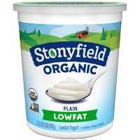 Stonyfield Farm Organic Yogurt Low Fat Plain 32oz Tub product image