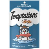 Whiskas Temptations Cat Treats Hearty Savory Salmon 3oz Bag product image
