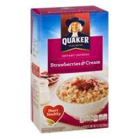 Quaker Instant Oatmeal Strawberries & Cream 10PK 12.3oz Box product image