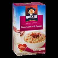 Quaker Instant Oatmeal Strawberries & Cream 10PK 12.3oz Box product image