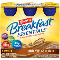 Carnation Instant Breakfast Essentials Drink Rich Milk Chocolate 6PK of 8oz BTLS product image