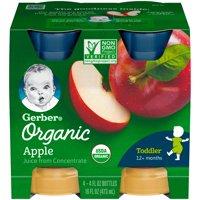 Gerber Organic Apple Juice 4PK 4oz EA product image