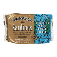 Brunswick Sardines in Spring Water No Salt Added 3.75oz PKG product image