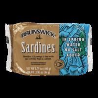 Brunswick Sardines in Spring Water No Salt Added 3.75oz PKG product image