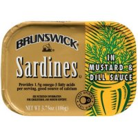 Brunswick Sardines in Mustard & Dill 3.75oz PKG product image