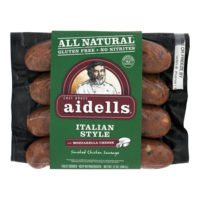 Aidells Smoked Chicken Sausage Italian Style With Mozzarella Cheese 12oz product image
