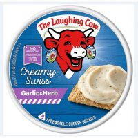 The Laughing Cow Spreadable Cheese Creamy Swiss Garlic & Herb 6oz product image