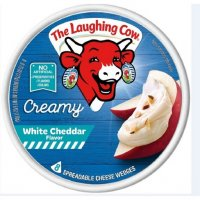 The Laughing Cow Spreadable Cheese Creamy White Cheddar 6oz product image