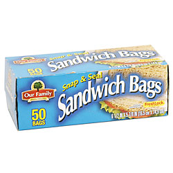 Store Brand Resealable Sandwich Bags 40CT product image