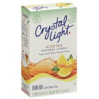Crystal Light On The Go Packets Iced Tea With Natural Lemon 10CT PKG product image