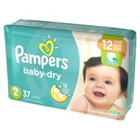 Pampers Baby Dry Diapers Size 2 (12-18 LB) Jumbo Pack 37CT PKG product image