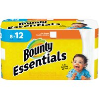 Bounty Essentials Paper Towels Giant Rolls 72 1-Ply Sheets 8CT product image
