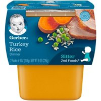 Gerber 2nd Foods Turkey Rice Dinner 4oz 2PK product image