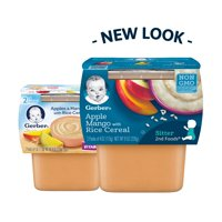 Gerber 2nd Foods Apples & Mangos with Rice Cereal 4oz 2Pack product image