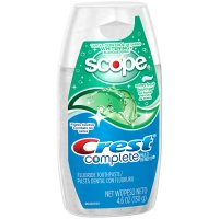 Crest Complete Tartar Control + Whitening plus Scope Minty Fresh Liquid Gel Toothpaste 4.6 oz product image