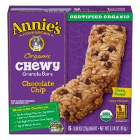 Annie's Organic Chewy Granola Bars Chocolate Chip 6CT 5.34oz PKG product image