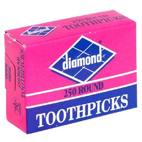 Diamond Toothpicks 250 Square - Round Tip product image
