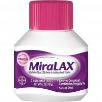 MiraLAX Powder Laxative 7 Once-Daily Doses 4.1oz BTL product image