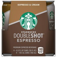 Starbucks Doubleshot Espresso and Cream 4PK of 6.5oz Cans product image
