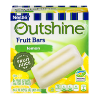 Nestle Frozen Outshine Fruit Bars Lemon 6CT 2.75oz Bars 16oz Box product image