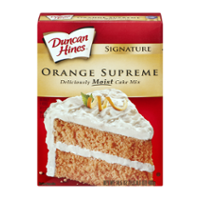 Duncan Hines Moist Deluxe Orange Supreme Cake Mix 16.5oz Box product image