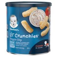 Gerber Lil Crunchies Veggie Dip 1.48oz PKG product image
