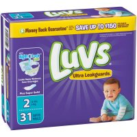 Luvs Diapers Size 2 (12-18LB) Jumbo Pack 31CT PKG product image