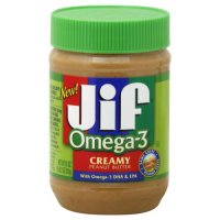 Jif Peanut Butter Creamy Omega 3 16oz Jar product image