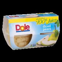 Dole Fruit Bowls Diced Pears in Juice 4oz EA 4CT 16oz PKG product image