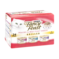 Fancy Feast 3 Flavor Variety Pack Grilled Poultry and Beef 24CT of 3oz Cans 72oz PKG product image