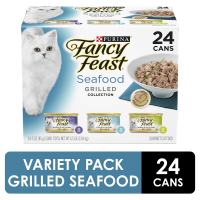 Fancy Feast 3 Flavor Variety Pack Grilled Seafood 24CT of 3oz Cans 72oz PKG product image