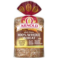 Arnold Whole Grains Bread 100% Whole Wheat 24oz PKG product image