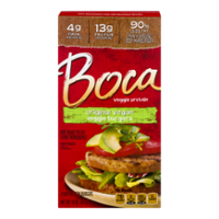 Boca Burgers Original Vegan 4CT 10oz Box product image