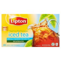Lipton Iced Tea Brew Decaffeinated Family Size Bags 48CT 10.5oz PKG product image