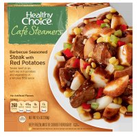 Healthy Choice Cafe Steamers Barbecue Seasoned Steak with Red Potatoes 9.5oz PKG product image