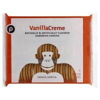 Store Brand Vanilla Sandwich Creme Cookies 15.5oz PKG product image