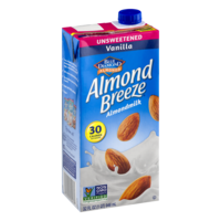 Almond Breeze Unsweetened Vanilla Non-Dairy Beverage 32oz CTN product image