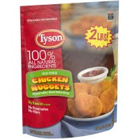 Tyson Chicken Nuggets 100% Natural Frozen 32oz Bag product image