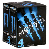 Monster Energy Drink Low Carb 4PK of 16oz Cans product image
