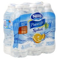 Nestle Pure Life Splash Water Mandarin Orange Splash 6PK of 16.9oz Bottles product image