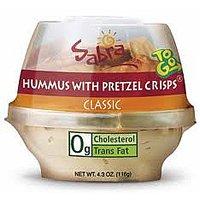 Sabra Classic Hummus with Pretzel Crisps 4.56oz PKG product image