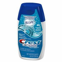 Crest Complete Whitening plus Scope Cool Peppermint Liquid Gel Toothpaste 4.6oz PKG product image